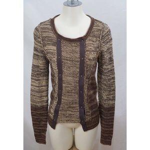 BKE Womens Asymmetrical Snap Knit Cardigan Sweater